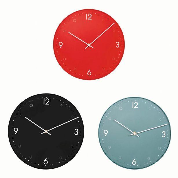 Horloge Simply - ø 30 cm - Différents coloris - Rouge, noir, bleu offre à 4€