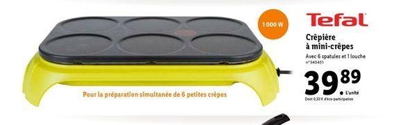 Crêpière à mini-crêpes offre à 39,89€