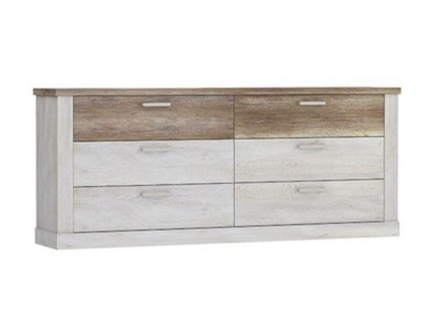Commode 6 tiroirs Duro chambre à coucher offre à 389€