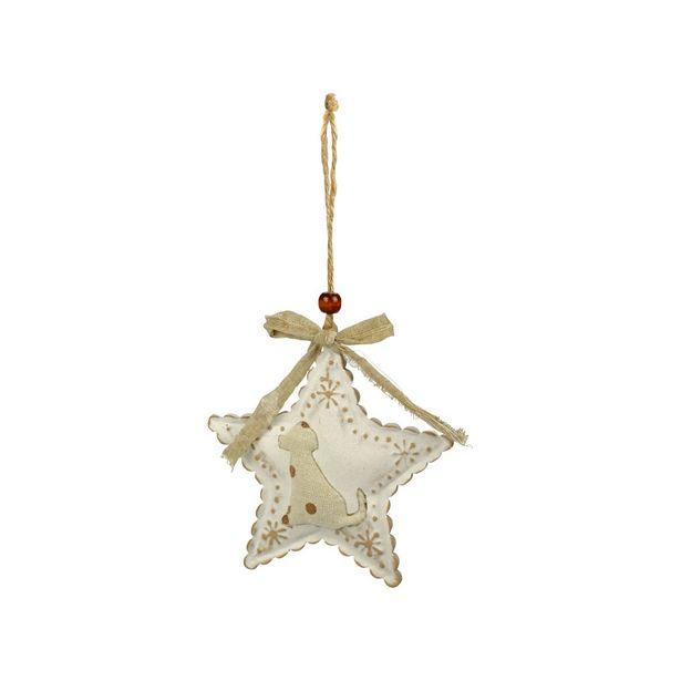 Décoration Chien en forme d'étoile offre à 2,75€