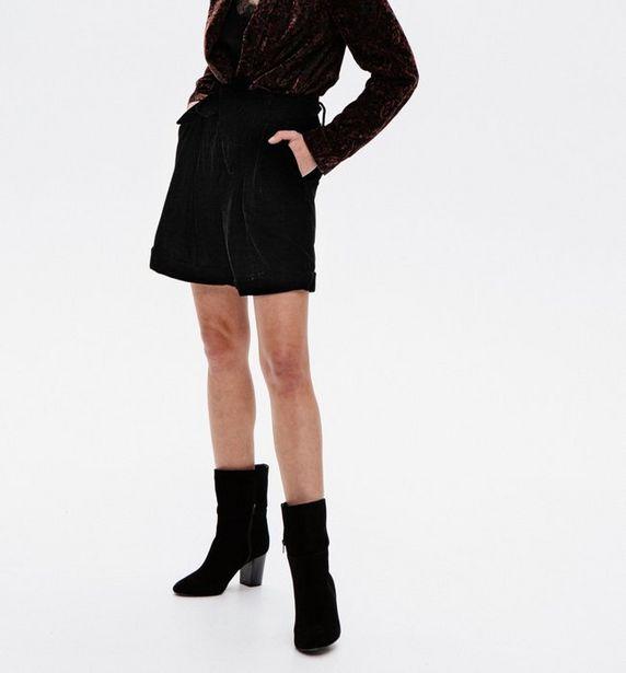 Short taille haute en velours offre à 14,97€