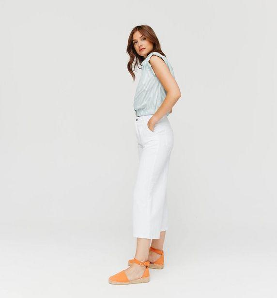 Jean cropped wide leg Femme offre à 15€