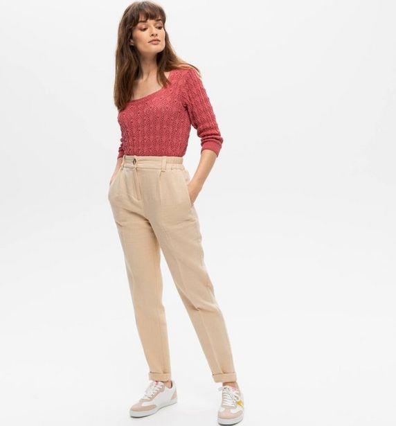 Pantalon gaufré Femme offre à 19,97€