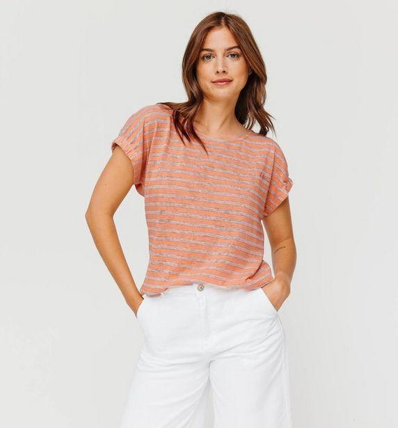 T-shirt rayé irisé Femme offre à 7€