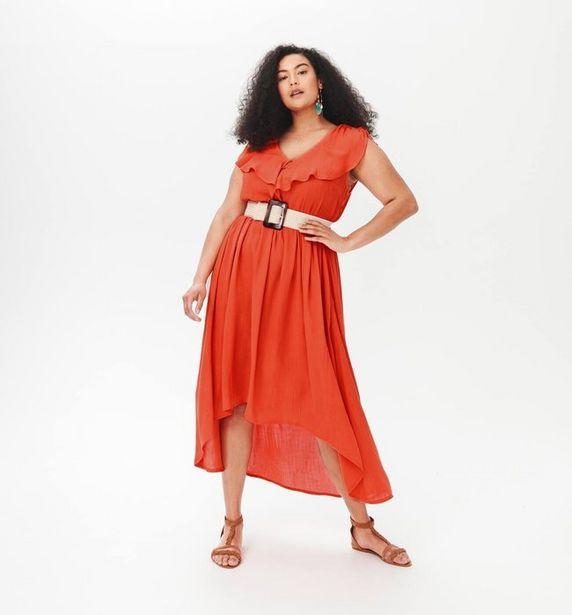 Longue robe crêpée Femme offre à 27,96€
