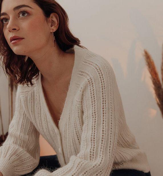Cardigan en tricot ajouré Femm offre à 19,97€
