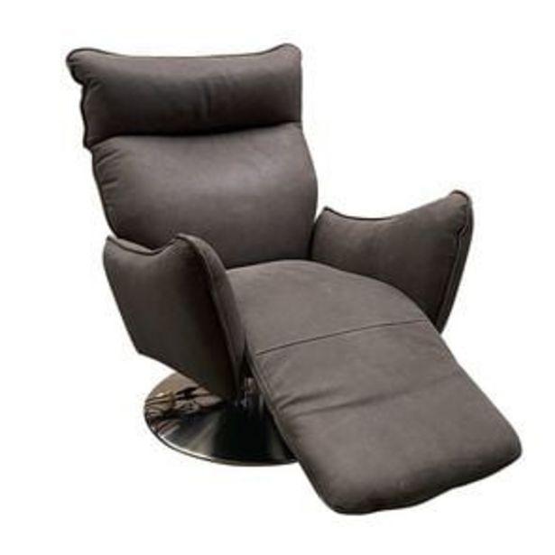 Fauteuil relax inclinable électrique en cuir graphite - Zurich offre à 2034,05€