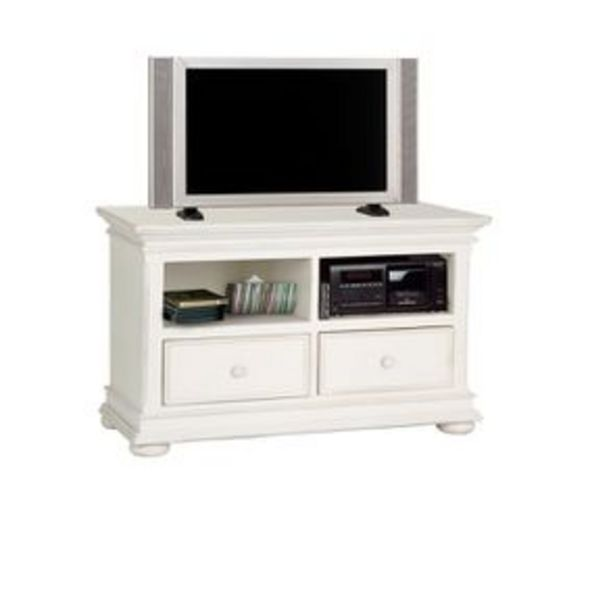 Meuble TV blanc en bois avec rangements - Harmonie offre à 466,4€