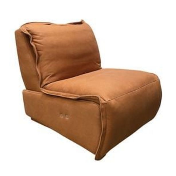 Fauteuil relax inclinable électrique en cuir camel - Copenhague offre à 1494,3€