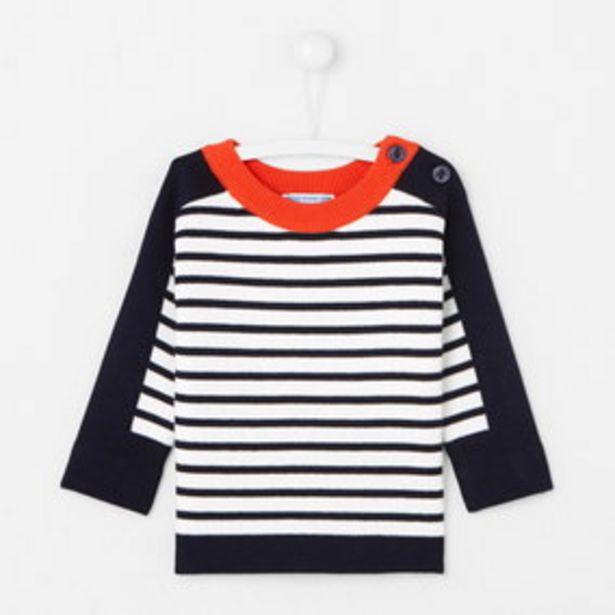 Pull bébé garçon esprit marinière offre à 24,5€
