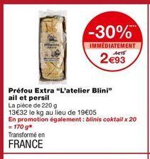 """Préfou Extra """"L'atelier Blini"""" offre à 2,93€"""