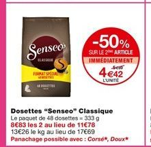 Dosette Senseo Classique  offre à 5,39€