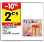 Biscuits cuillers  offre à 2,15€