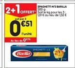 Spaghetti Barilla offre à 0,76€