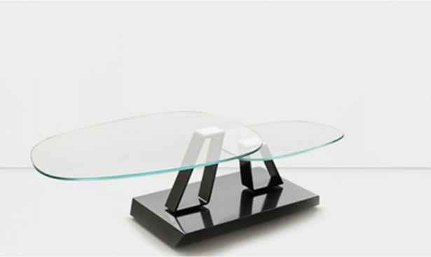 Table en verre twist sasso plateau tournant offre à 1940€
