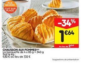 Chaussons aux pommes offre à 1,64€