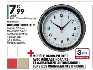 Horloge murale offre à 7,99€