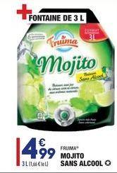 Mojito sans alcool offre à 4,99€