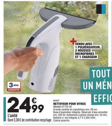Nettoyeur poor vitres offre à 24,99€