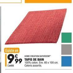 Tapis de bain offre à 9,99€