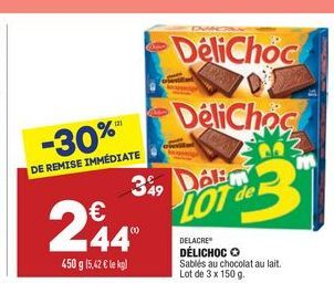 Delichoc offre à 2,44€