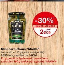 Mini cornichons offre à 2,09€