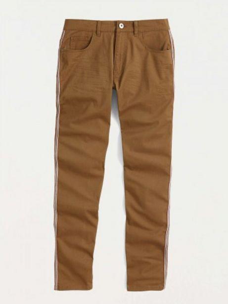 Pantalon coloris tabac homme offre à 16€