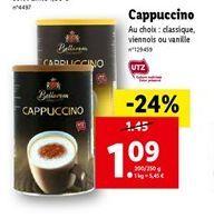 Cappuccino offre à 1,08€