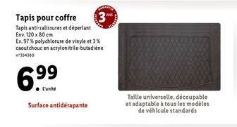 Tapis pour coffre  offre à 6,99€