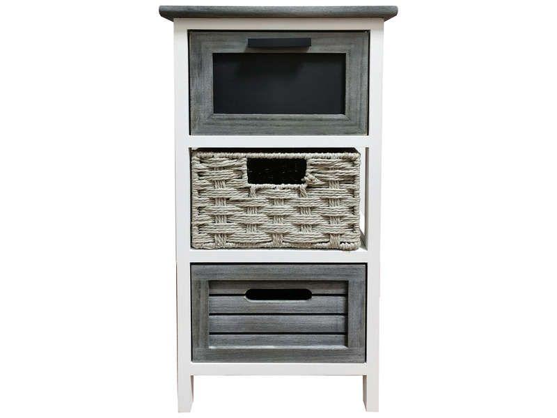 Mini commode 3 tiroirs ARDOISE offre à 39,68€