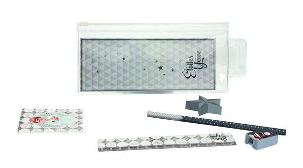 Set accessoires écolier gris chimiste offre à 3,25€