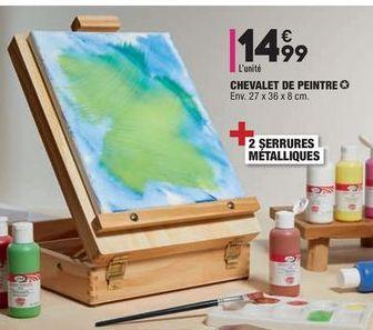 CHEVALET DE PEINTRE offre à 14,99€