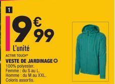 VESTE DE JARDINAGE ACTIVE TOUCH offre à 9,99€