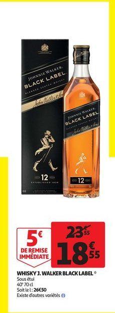 Whisky J. Walker black label offre à 18,55€