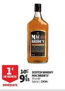 Scoth whisky mac bride´s offre à 9,55€