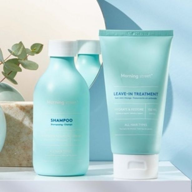 MORNING STREET Routine nourrissante Shampoing & Leave In TreatmentShampoing & soin capillaire offre à 18€