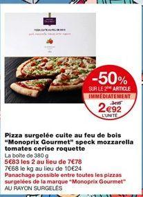 Pizza surgelée cuite au feu de bois  offre à 3,89€