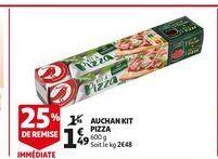 Auchan kit pizza offre à 1,49€