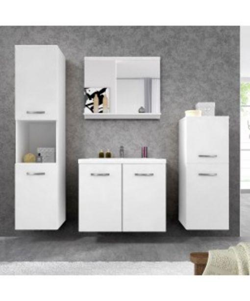 Meuble de salle de bain suspendu blanc avec miroir et vasque Maja offre à 279,95€