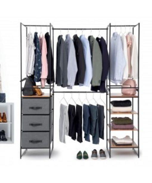Armoire dressing modulable et extensible 6 pièces offre à 129,95€