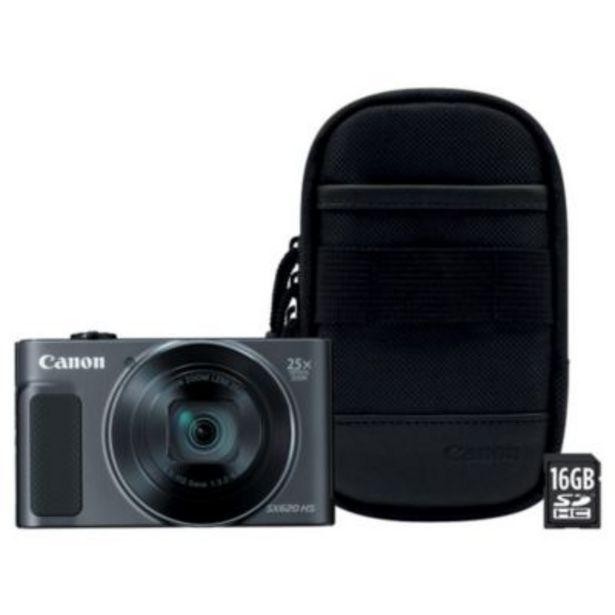 Appareil photo Compact Canon SX620 HS Noir + Etui + SD 16Go offre à 229€