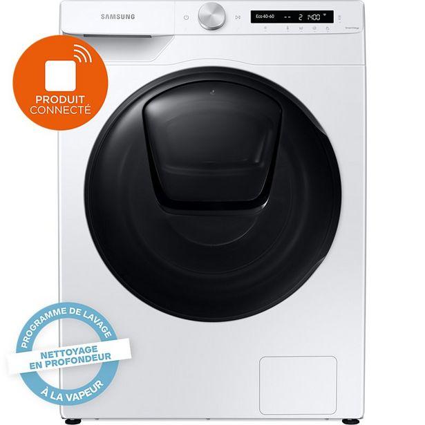 Lave linge séchant hublot Samsung WD80T554DBW offre à 619€