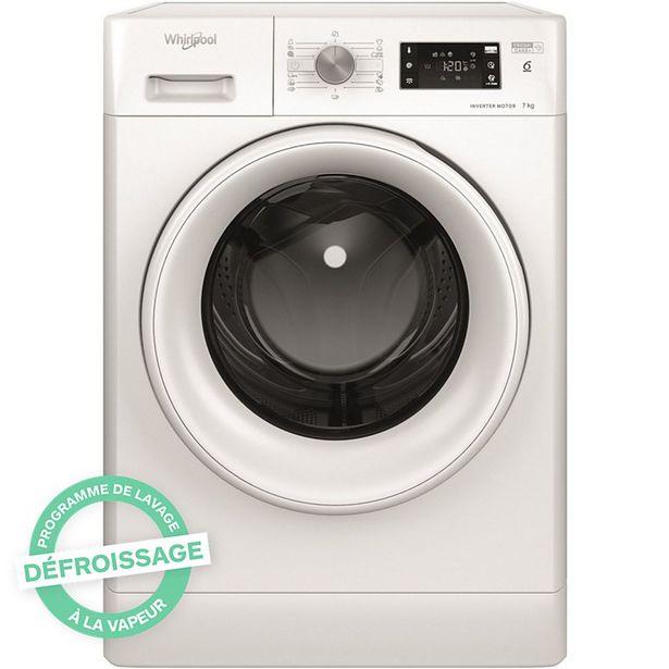 Lave linge hublot Whirlpool FFB7638WEU FreshCare+ offre à 499€