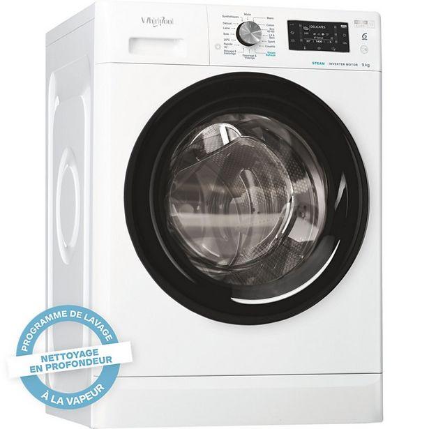 Lave linge hublot Whirlpool FFDB9448BVFR freshcare offre à 529€