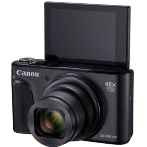 Appareil photo Compact Canon PowerShot SX740 HS Noir+Trepied+Housse offre à 349€