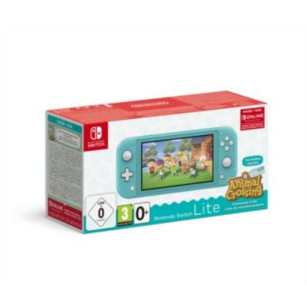 Console Switch Lite Nintendo Switch Lite Turquoise+AC+contenu offre à 249,99€