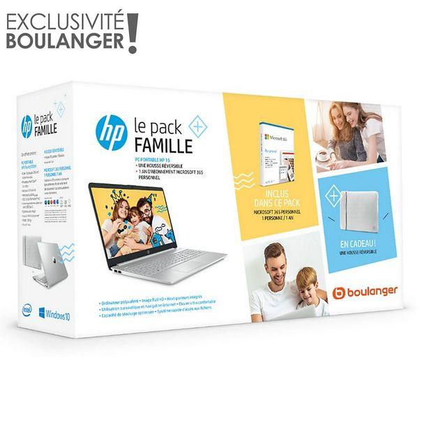 Ordinateur portable HP Pack 15s-fq1032nf+housse+Office 365 offre à 649€