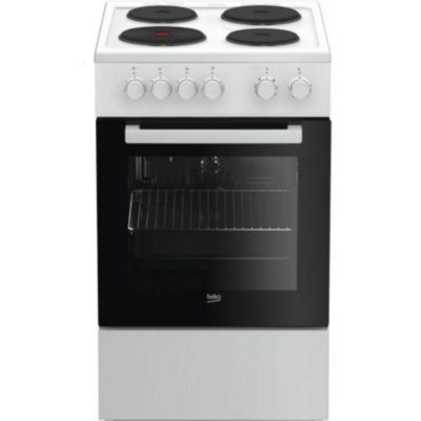 Cuisinière électrique Beko FSS56000GWC offre à 299€