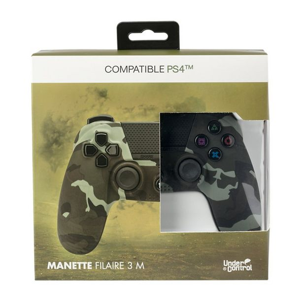 Manette Under Control Manette PS4 Filaire Camouflage offre à 29,9€