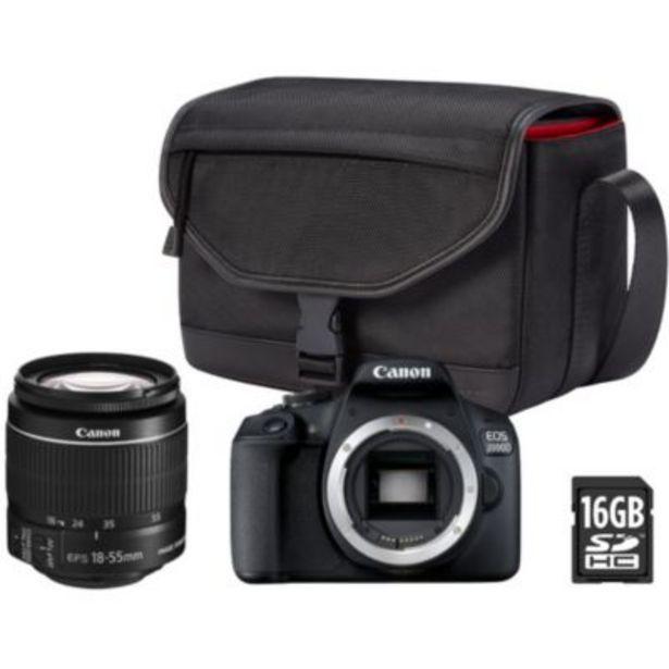 Appareil photo Reflex Canon EOS 2000D + EF-S 18-55mm + Etui + 16Go offre à 469€